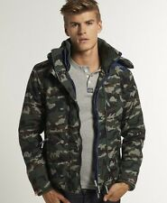 New Mens Superdry Hooded Arctic Pop Zip Windcheater Jacket Army Camo Green