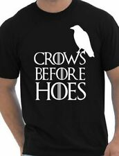 Crows Before Hoes Inspired By Game Of Thrones Nights Watch Mens T shirt  Size S-