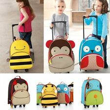 Kids Travel School Trolley wheeled Luggage Children Animal Suitcase Backpack Bag