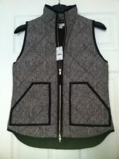 NWT J.Crew Excursion Novelty Herringbone Quilted Puffer Vest Size: XS & S