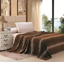 Leopard Animal Blanket Super Soft Throw Bedding Fleece Queen Multiple Colors