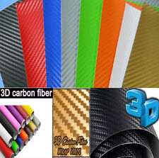 "3D Carbon Fiber Vinyl Wrap Sticker 12"" x 60""  Top Grade Bubble Free Air Release"