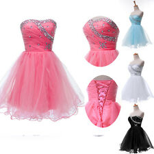 A-Line XMAS GIFT Sexy Short Beading Bridesmaid Gown Homecoming Prom Party Dress