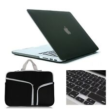 Black Rubberized Hard Laptop Sleeve Case Cover for MacBook Air Pro 11/13/15