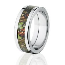 Flat Obsession Mossy Oak Camo Wedding Ring, Mossy Oak Camo Rings