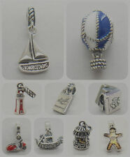 Sail Away Lighthouse Study Textbooks Singing Bird 925 Sterling silver Charm bead