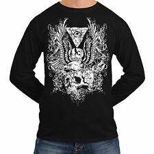 Wellcoda | NEW Angry Eagle Neck Mens Womens S-2XL Long Sleeve T-Shirt *o538