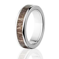 Camo Rings, Mens Camo Wedding Bands, Licensed Mossy Oak Bottomland Rings