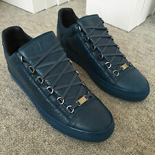 100% Auth Balenciaga Torrent Blue Arena Low Top Leather Sneakers EU45 UK11 US12