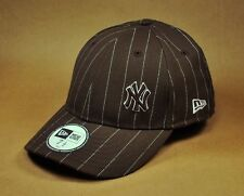 NEW ERA Men's New York Yankees Cap Hat Pn Striped 4940 Fitted size 7 5/8 Brown