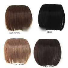 NEW Full Bangs Hair Pieces Clip in on Extensions Brazilian Remy Bang CAMC