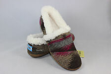 New AUTHENTIC TOMS Women's Slippers MULTI GREY WOOL Shoes with Original Box