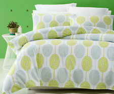Phase 2 Medallion Green Quilt Doona Cover Set - SINGLE DOUBLE QUEEN KING