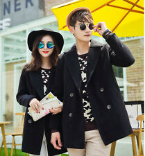 Gifts for Her/Him(Valentine) Unisex Wool Coats Jackets Overcoat Lovers' Clothes