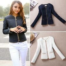 New Women's Thick Cotton-padded Slim Fit Zip lb Coat Jacket Casual Outerwear EP9