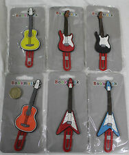 Guitar Shaped Book Mark, Stratocaster, Gibson, Flying V Clip-on Book Mark