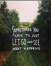 LET GO life simple quote scenery faith adventures photo glossy t-shirt