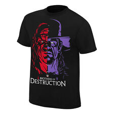 Kane & The Undertaker BROTHERS OF DESTRUCTION  WWE Authentic T-Shirt OFFICIAL