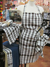 4 NEW   COTTON POCKETED GINGHAM APRONS  Many colors available   WHOLESALE LOT