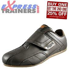 Lonsdale Mens Wasdale Classic Casual Velcro Trainers Brown * AUTHENTIC *