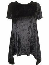 Black Simply Be party crushed velvet top size 22 NEW Christmas dipped hem