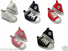 Converse Kids Chuck Taylor First Star Core Crib Soft Sole Baby Shoes Black Pink