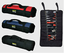 Repairing Tools Kit Roll Bag Plier Screwdriver 21 Pockets Carry Case Pouch Bag