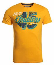 New Mens Superdry Factory Second Indian 45 T-Shirt Iris Yellow
