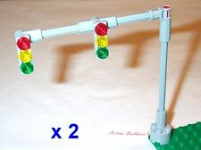 Lego Traffic Light Signals 2-Lane Overhead * 2 Sets * 8495 Road Street Sign Post