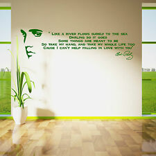 ELVIS PRESLEY SONG LYRICS LIKE A RIVER Vinyl Wall Art Sticker room decal Quote