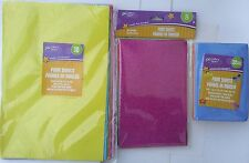 FOAM SHEETS FOR ARTS & CRAFTS Select Color, Glitter, Size