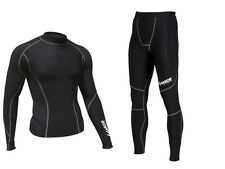 Zimco Winter Compression Jersey & Tight Thermal Under Top Shirts Skins Pants
