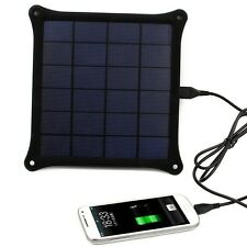 5W Solar Panel Power Bank Charger For Android Mobile Phone Micro USB Cellphone