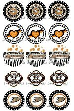 Pre-Cut One-Inch Anaheim Ducks Bottle Cap Images