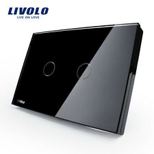 Livolo New US Type AC110-250V 2 Gang 1 Way Wall Light Remote Touch Dimmer Switch