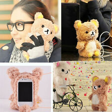 Cute 3D Teddy Bear Doll Toy Cool Plush Case Cover For Apple iPhone 6 5 4 Samsung