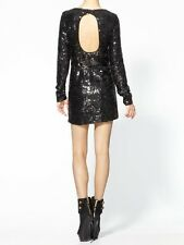 RACHEL ZOE WOMEN'S SELITA BLACK SEQUIN BACKLESS COCKTAIL FORMAL DRESS $450.00  2