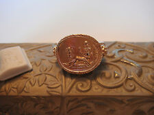 TAGLIAMONTE OUTLET ~ Bronze W/22K RGP Ring ~Aphrodite + Cupid  LARGE DESIGN