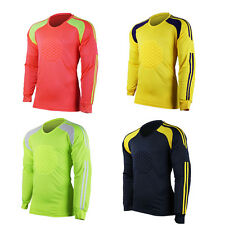 Professional Goalkeeper Goalie Football Soccer Jersey Shirt Foam Padded Tops Men