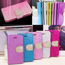 HOT Bling Flip Glitter Leather Magnetic Case Cover Wallet For IPhone 4s 5s