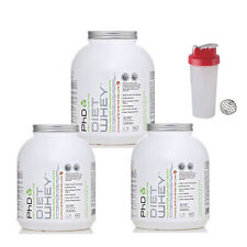 3 X Phd Diet Whey 2kg + FREE SHAKER + FREE DELIVERY