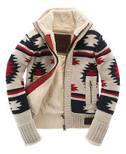 New Mens Superdry Super Navajo Knit Jacket Winter