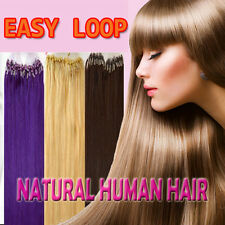 """Remy Human Hair Extensions Easy Loop micro rings beads tip Straight 100s 18""""-22"""""""