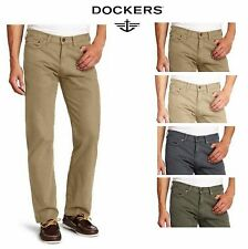 MENS DOCKER PANTS, 5 POCKET STRAIGHT FIT, FLAT FRONT, NEW! Rifle, Kahki, Storm