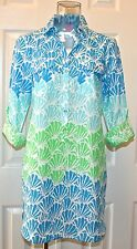 """Lilly Pulitzer Captiva Tunic Top/Cover Up ,""""Shell Shacked"""" Multi, XS, S, M, NWT"""