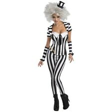 Female Beetlejuice Adult Funny Ghost Halloween Fancy Dress