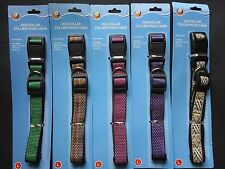DOG COLLARS ADJUSTABLE NYLON STRAP Quick Release  SELECT: Collar Size & Color
