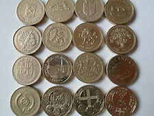 Rare British £1 pound one pound coins  from 1988-2014