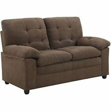 Buchannan Microfiber or faux leather Loveseat sofa couch home furniture NEW