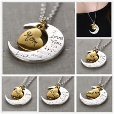 Fashion New Charms Jewelry Silver Gold I Love You To The Moon And Back Necklace